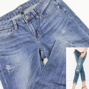 WHBM Distressed Girlfriend Slim Skinny Jean 4*X238
